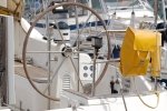 Steering  gear of this yacht moored in Palma