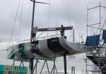 Quantum yacht undergoing reparation work