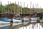 Small boats moored at Brancaster Staithe