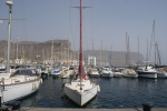 Yacht moored in Gibraltar