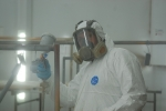 Action in the paint spray booth