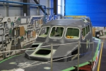 Sinister looking vessel before being painted bright orange