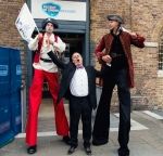The IIMS CEO is about to be abducted by two giant, menacing pirates