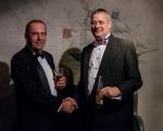 Mike Schwarz (right) congratulates newly elected Deputy Vice President, Geoff Waddington