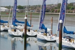 Sailing school craft moored up