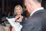 Membership Secretary, Jan Cox, is captured by Ivo the caricaturist