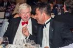 Capt John Noble (left) shares a joke with Capt Zarir Irani