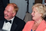 A laughing Hugh Brown and Louise Noble