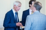 Sir Alan Massey (left) chats with Fraser Noble