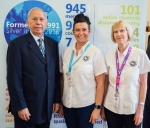 Capt Humail with Vicky Lawrence and Jan Cox from head office