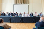 The top table at the 2016 IIMS AGM in Herringham Hall